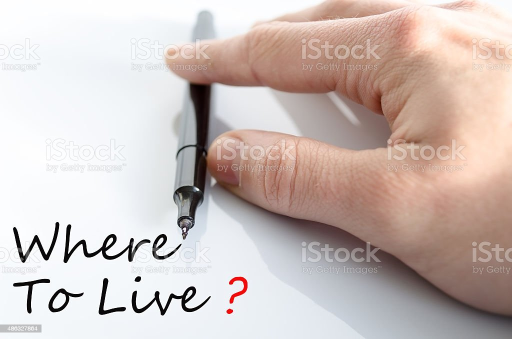 Where To Live Concept stock photo