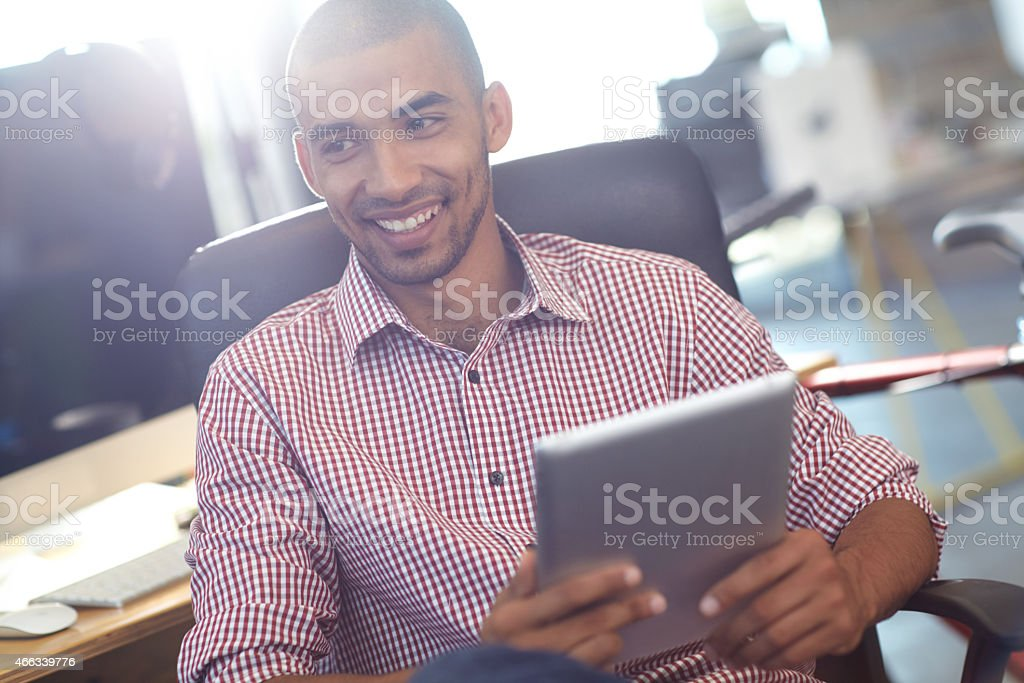 Where would we be without modern technology? stock photo