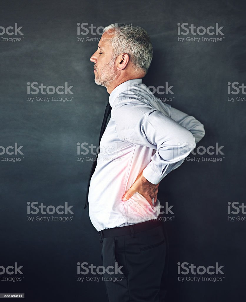 Where's a massage when you need one? stock photo