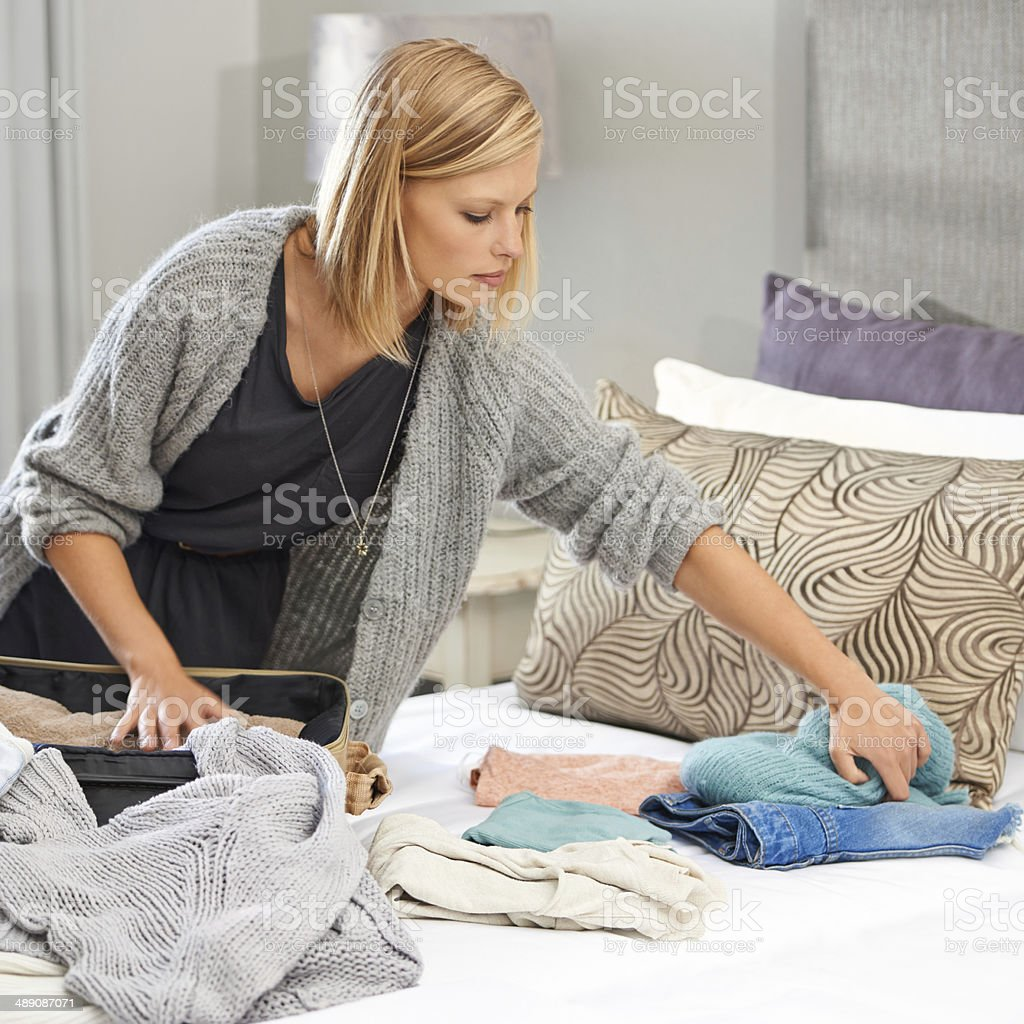 Where's my other jeans? stock photo