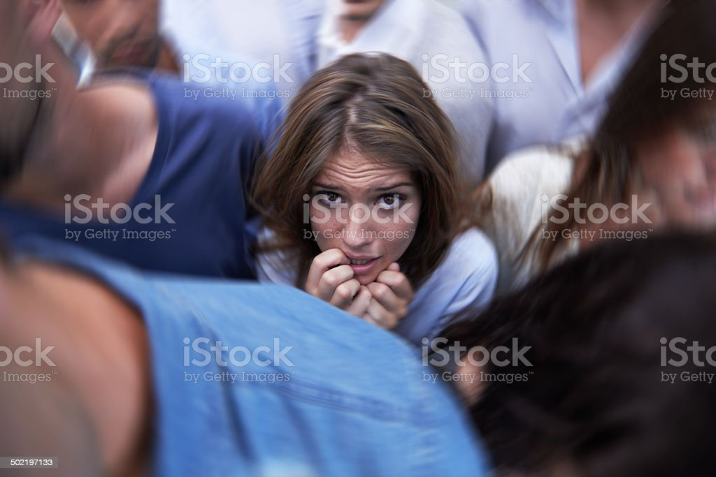 Where's the escape? stock photo