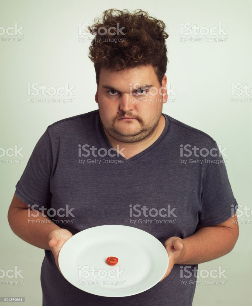 Where's the rest of my burger? stock photo