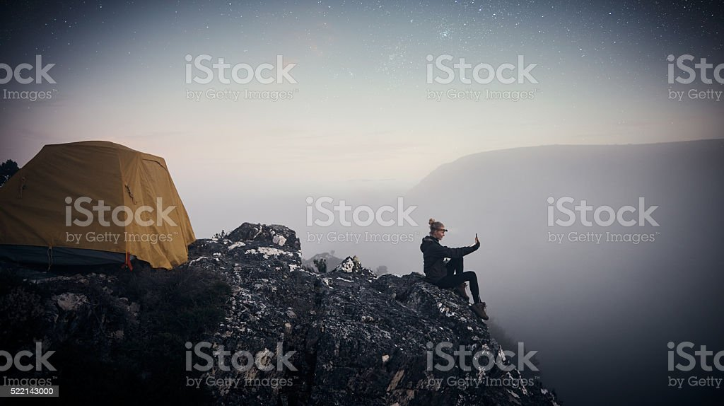 Wherever you are, be all there stock photo