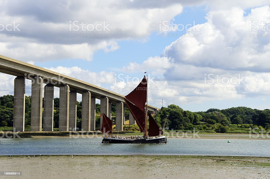 Wherry on the River Orwell royalty-free stock photo