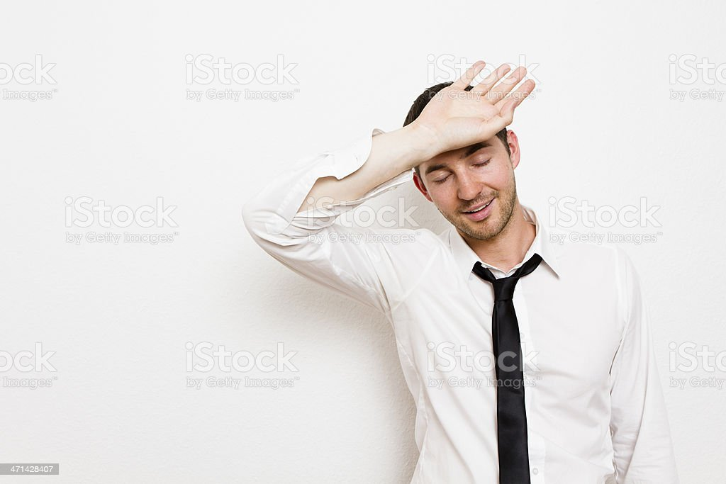 Whew! What a relief. stock photo