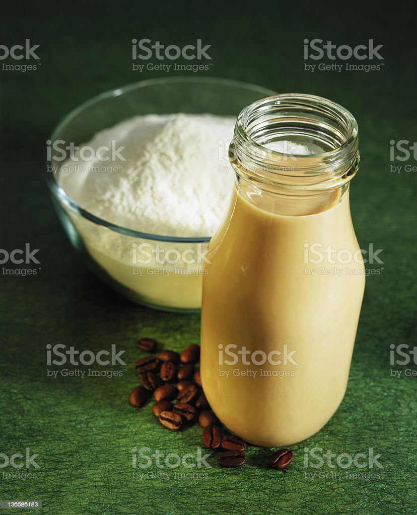 Whey and Coffee stock photo