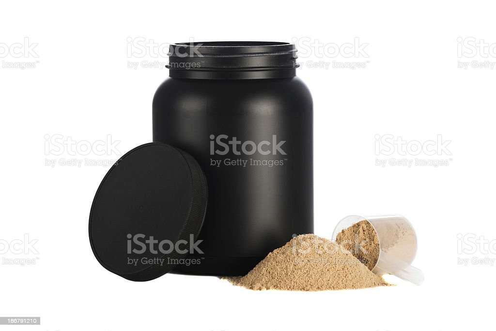 Whey protein blend stock photo