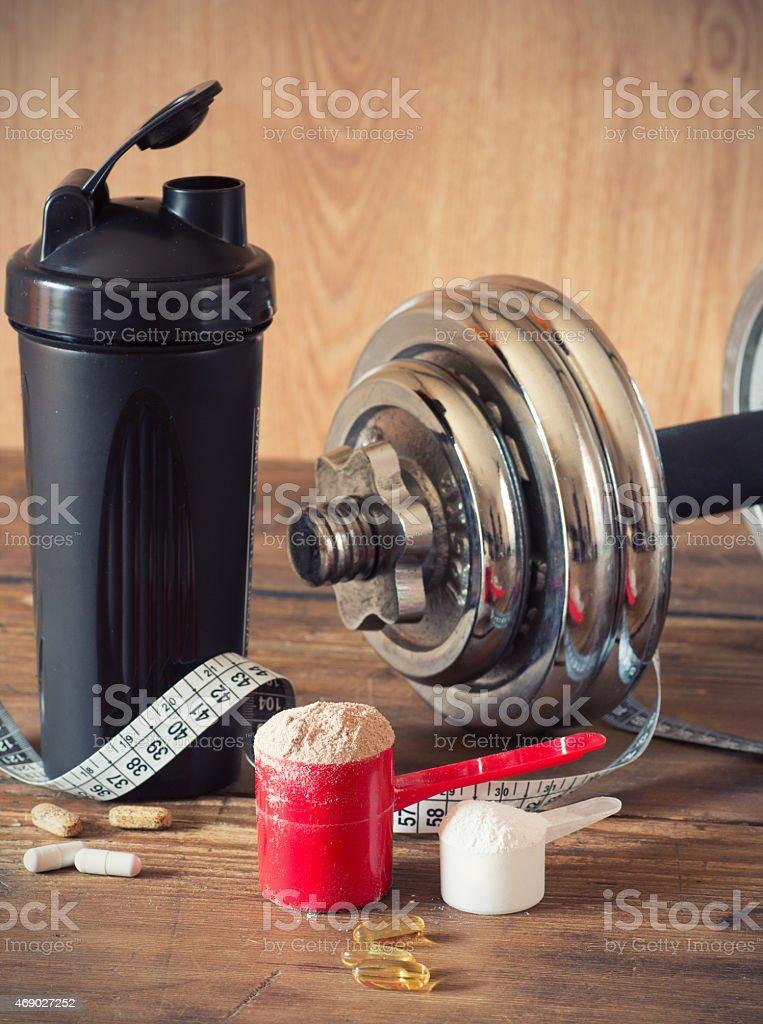 Whey protein stock photo