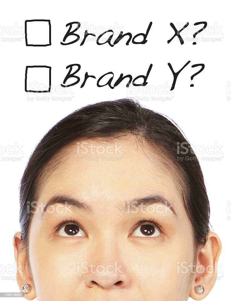 Which Brand? royalty-free stock photo