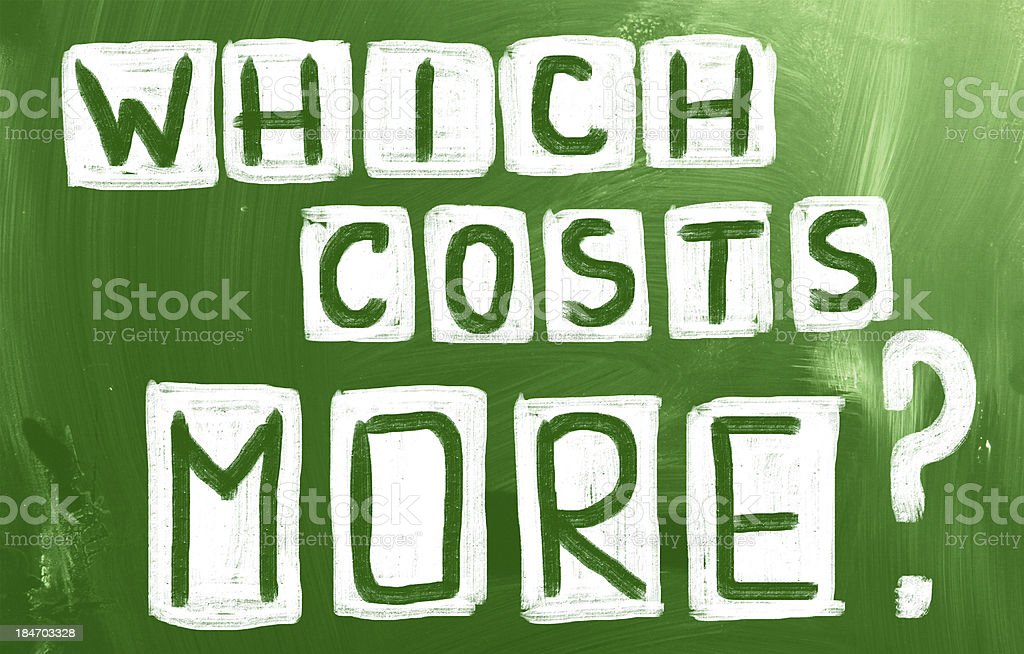 Which Costs More? royalty-free stock photo
