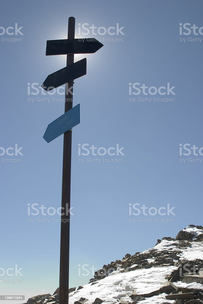 which direction royalty-free stock photo