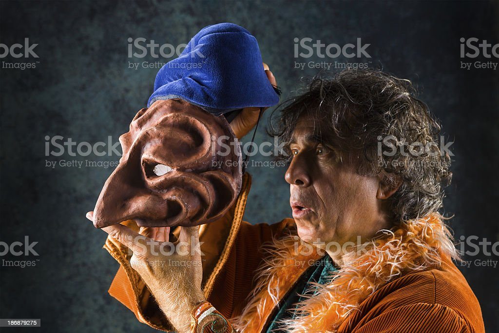 Which face is mine royalty-free stock photo