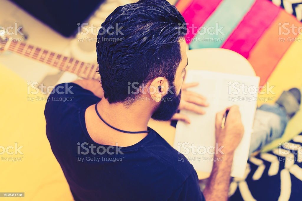 Which lyrics suit this song the most? stock photo