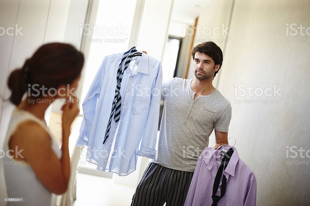 Which one do you think I should wear? stock photo