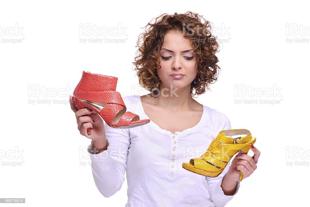 Which shoe ? stock photo