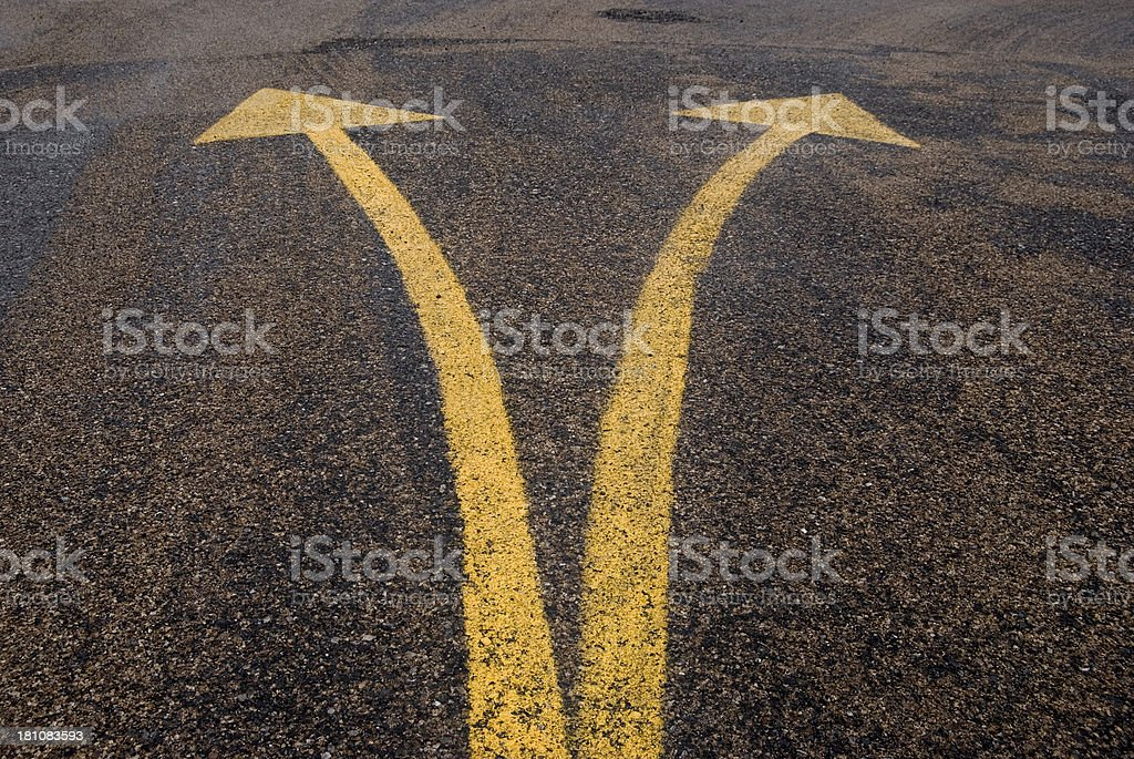Which way do I go? royalty-free stock photo