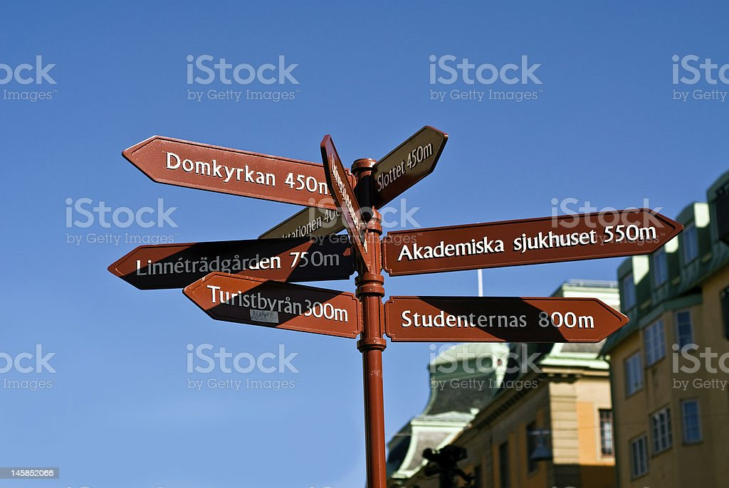 Which way? stock photo