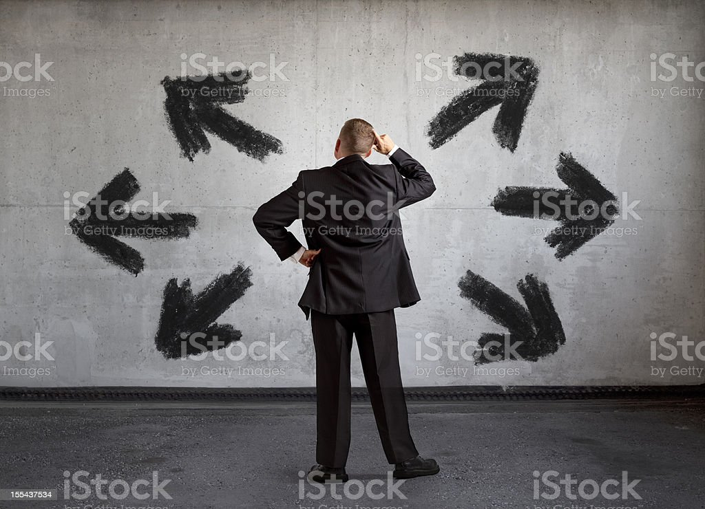Which Way Should I Go? Decisions. royalty-free stock photo