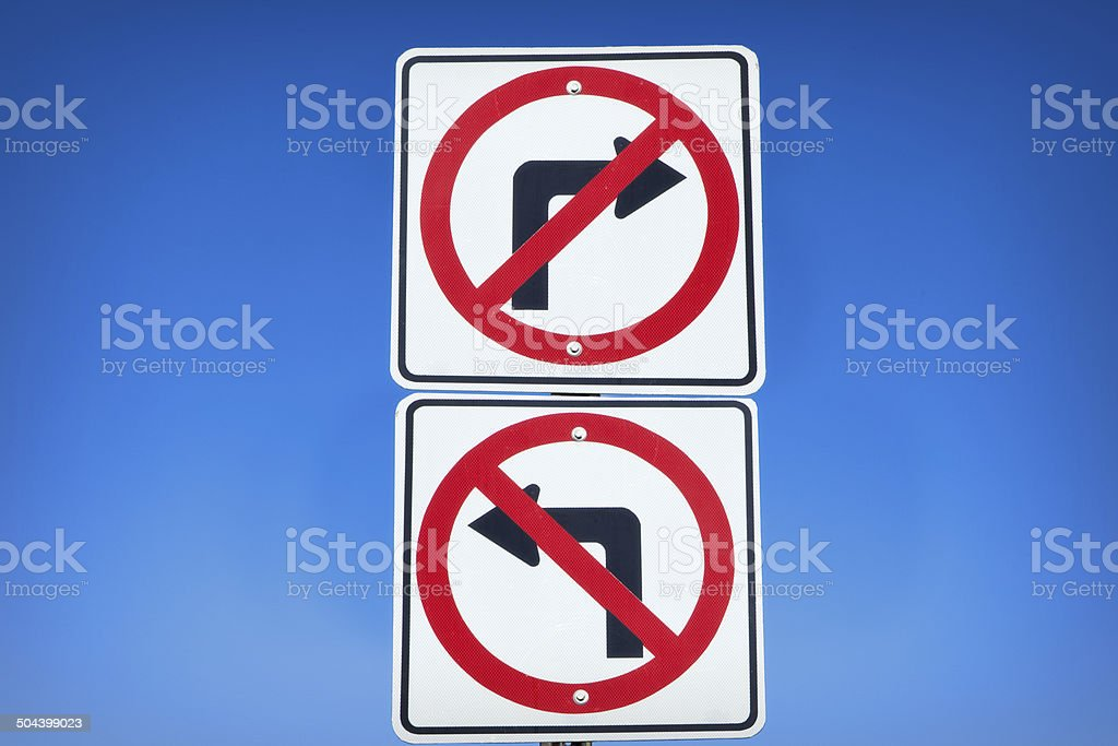 Which Way To Turn? stock photo