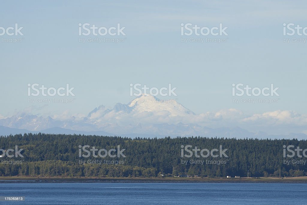 Whidbey Island and Mt Baker royalty-free stock photo