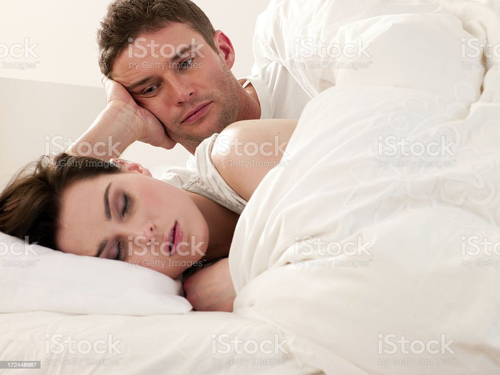 While She Sleeps royalty-free stock photo