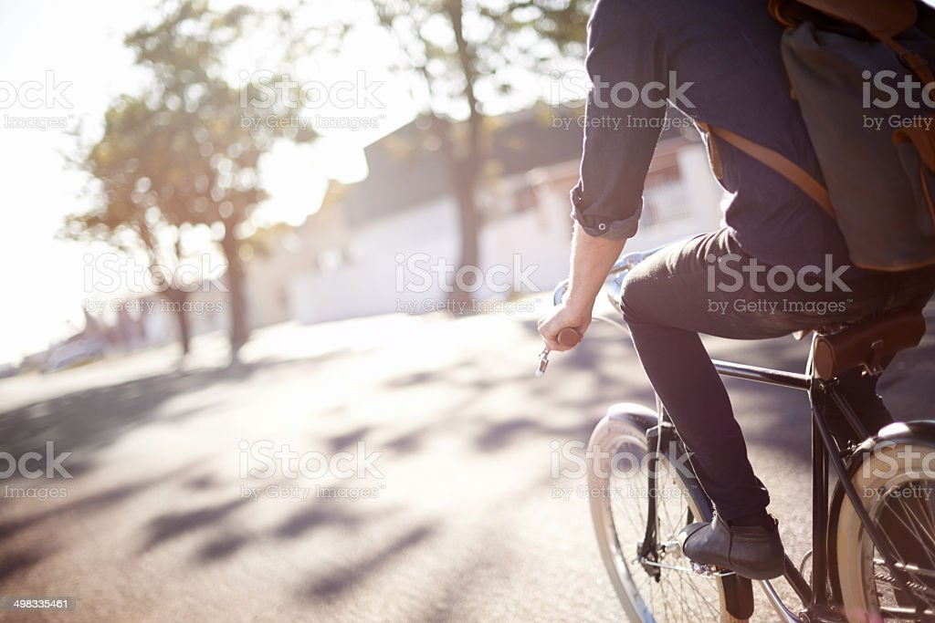 Whiling away the miles stock photo
