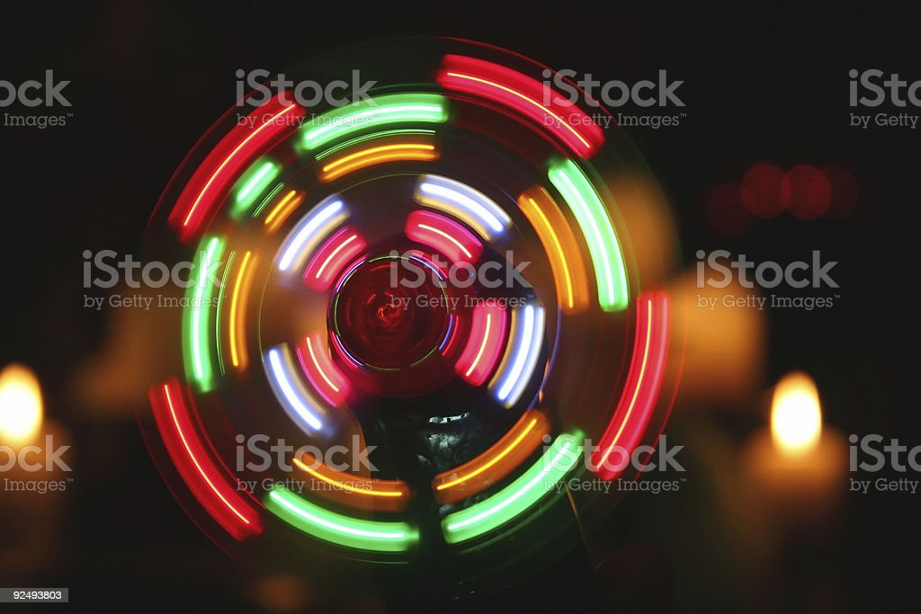 Whimsical Lit Wheel stock photo