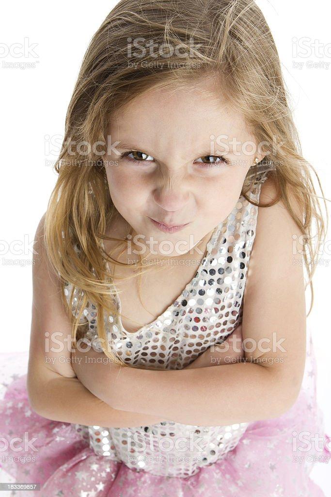 Whimsical Little girl stock photo