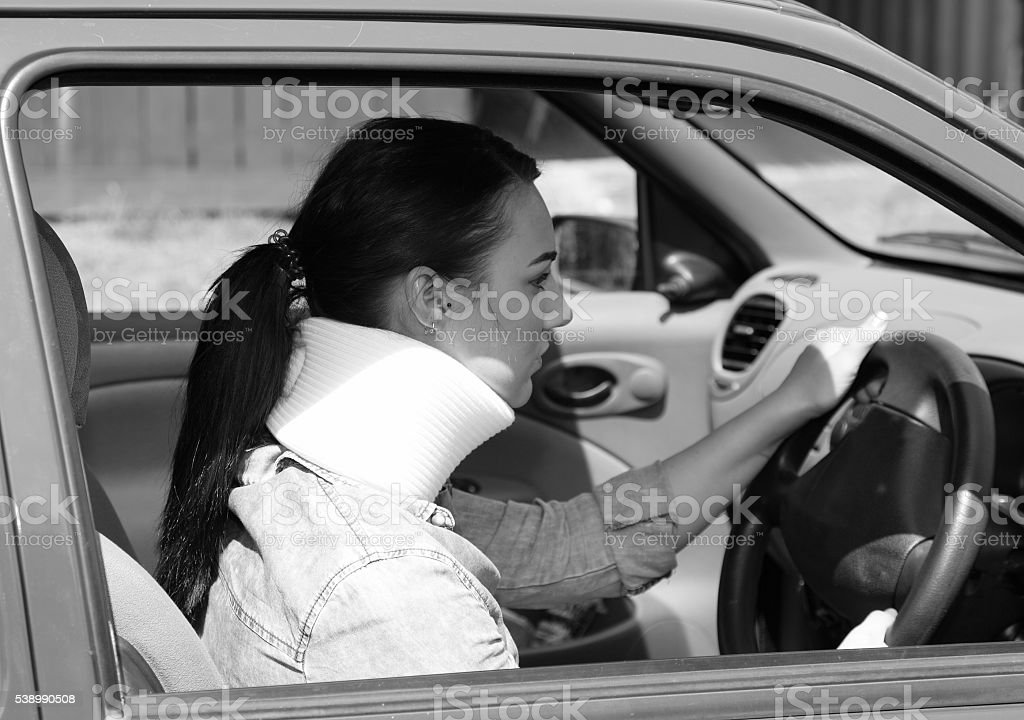 whiplash insurance claim concept stock photo