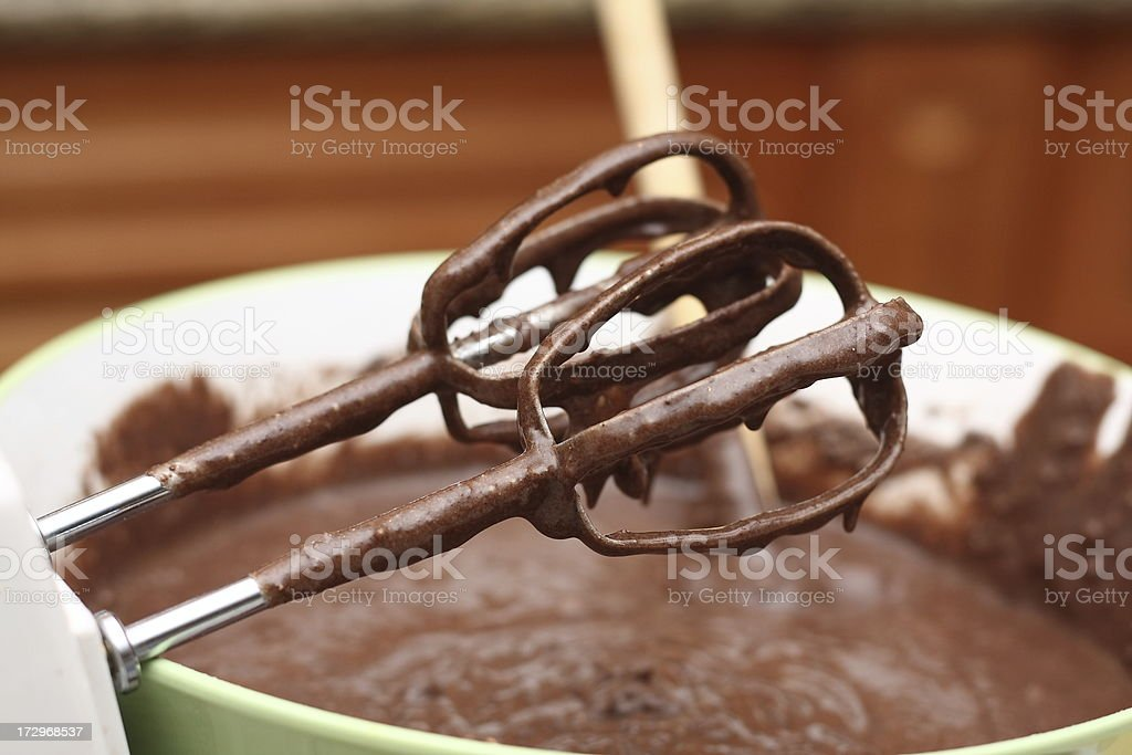 whipped fudge stock photo