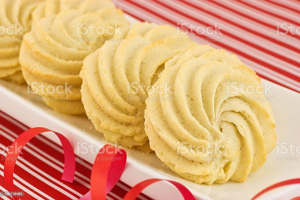 Whipped shortbread pinwheels royalty-free stock photo