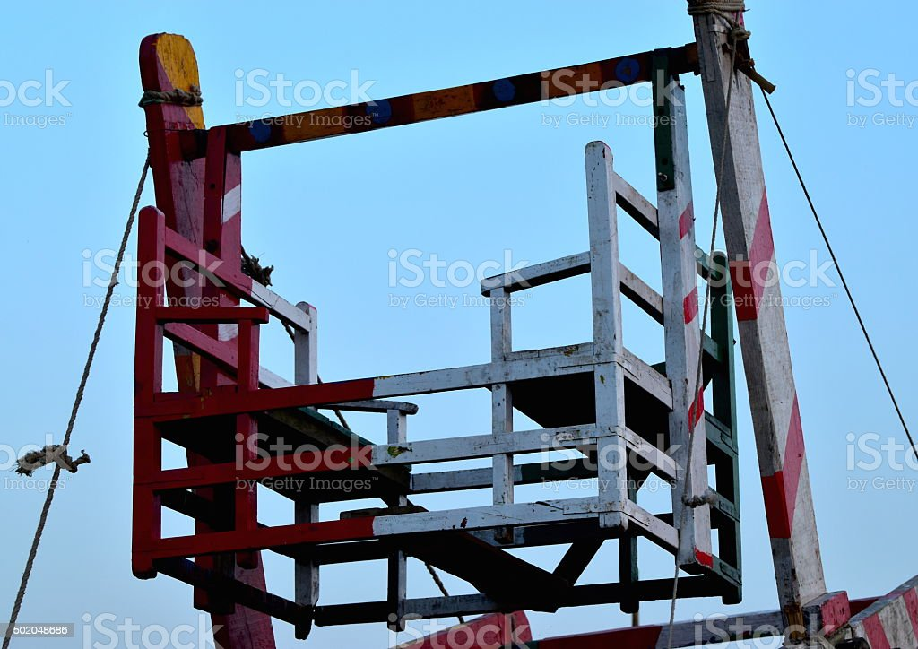 Whirligig objects at the Bay of Bengal - Stock Image stock photo