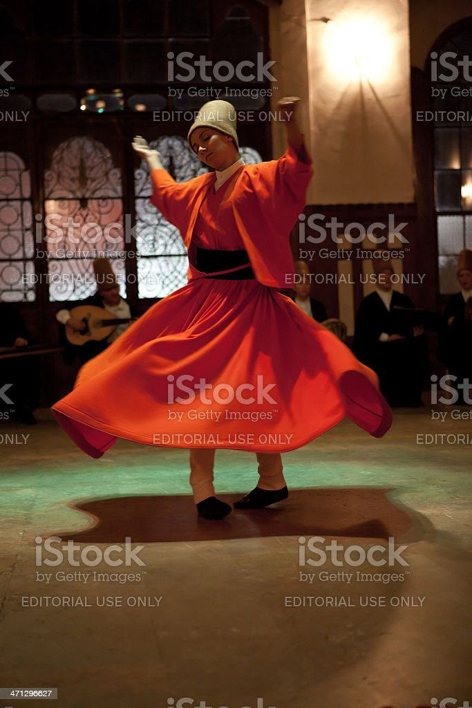 Whirling dervish royalty-free stock photo
