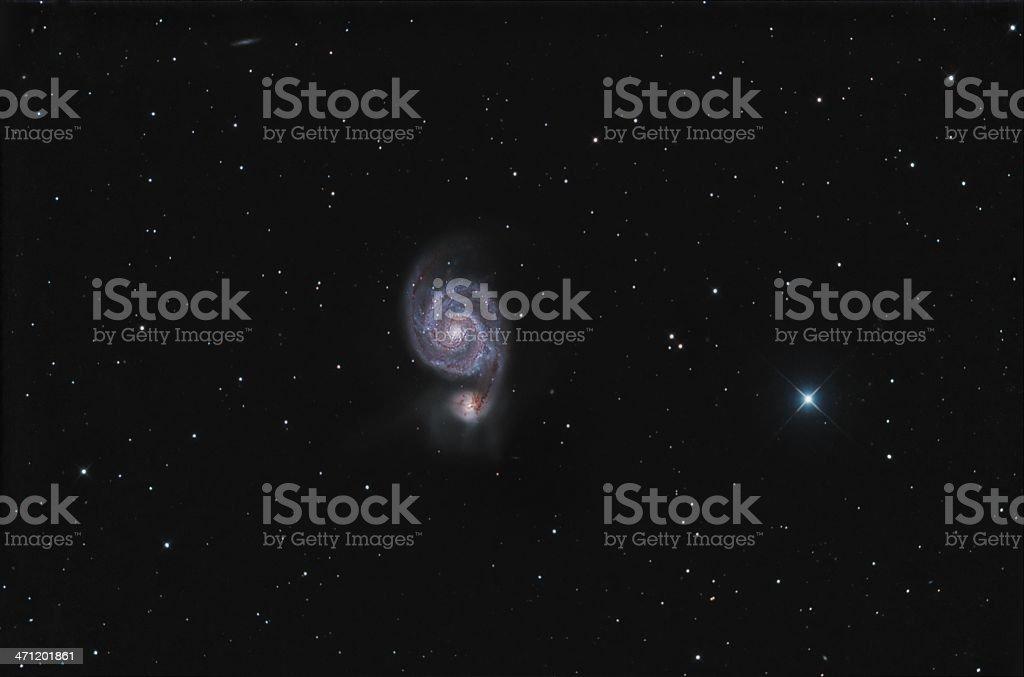 Whirlpool galaxy royalty-free stock photo