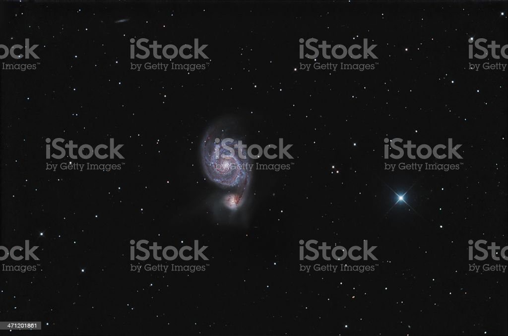 Whirlpool galaxy stock photo