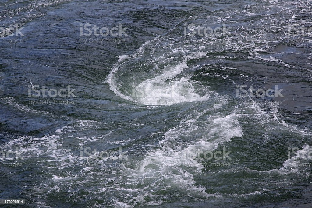 Whirlpool or Maelstrom stock photo