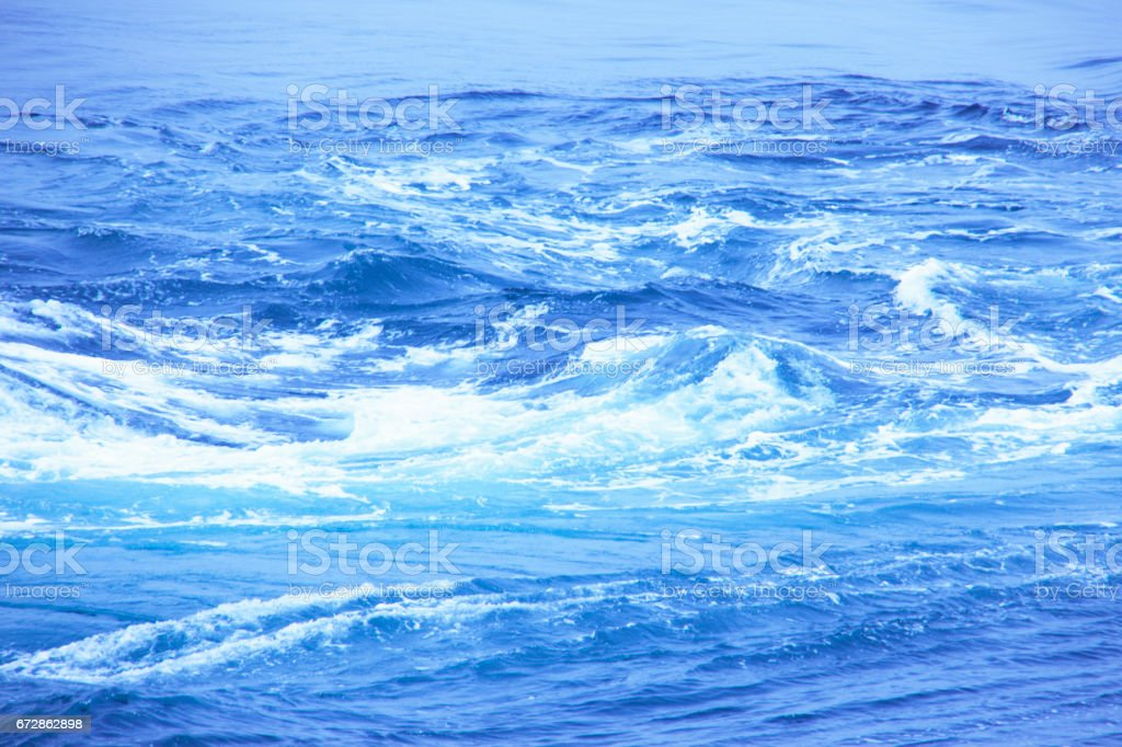 Whirlpools in the Naruto Strait stock photo