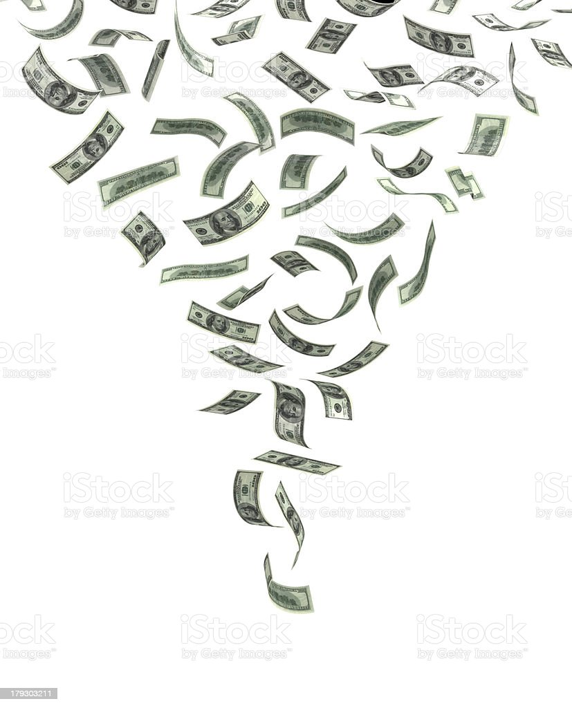 Whirlwind of Money royalty-free stock photo