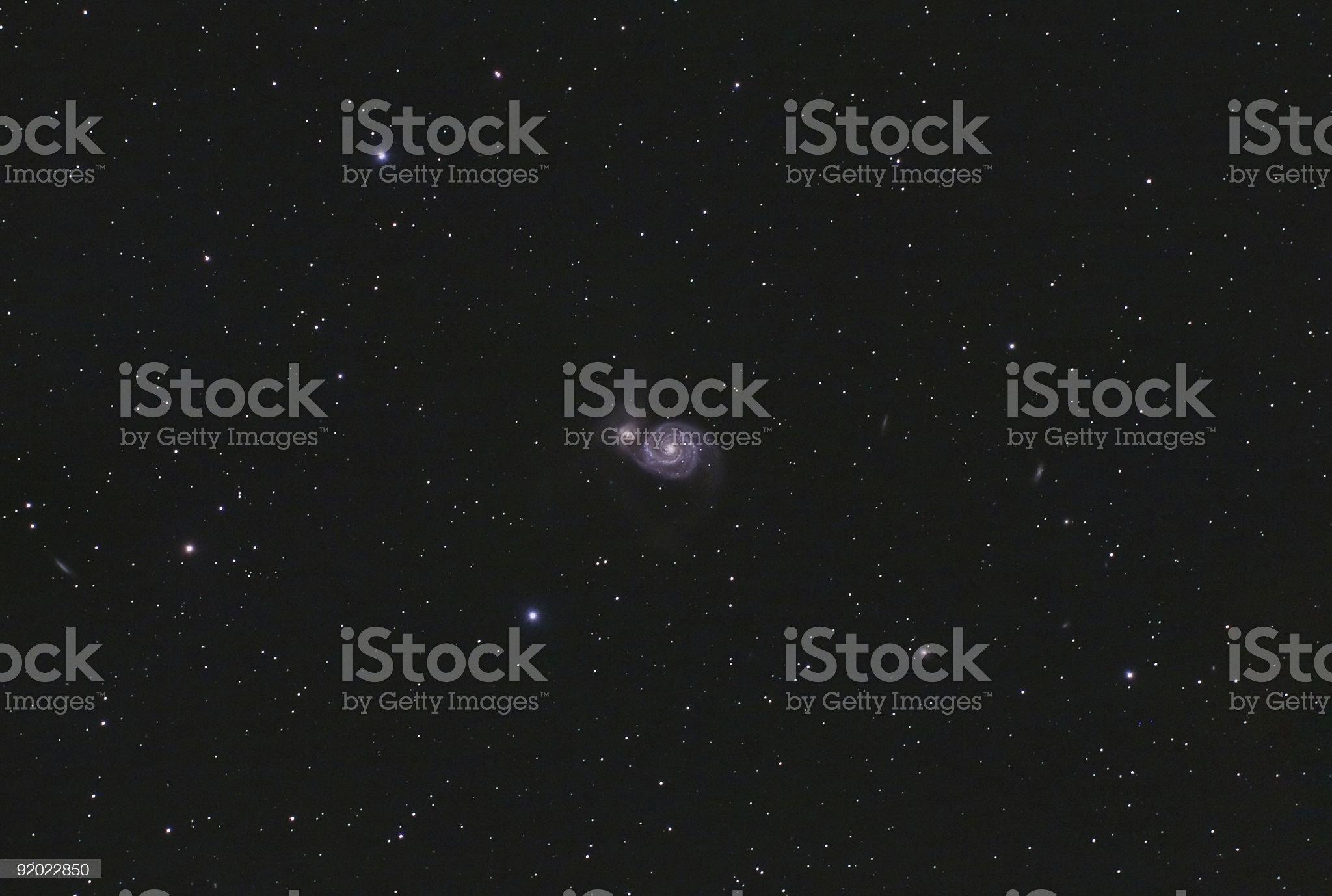 Whirpool Galaxy (M51) royalty-free stock photo