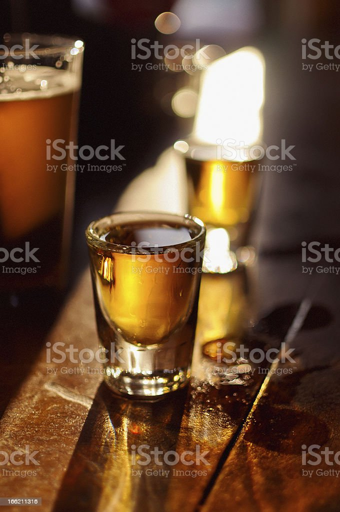 Whiskey and Beer stock photo