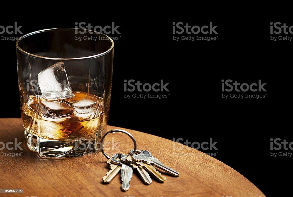 Whiskey and Car Keys stock photo
