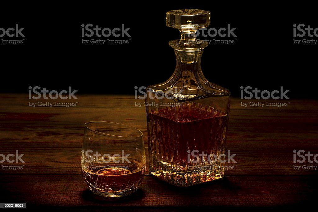 Whiskey and Decanter stock photo