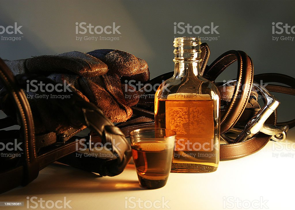 Whiskey and Reins royalty-free stock photo
