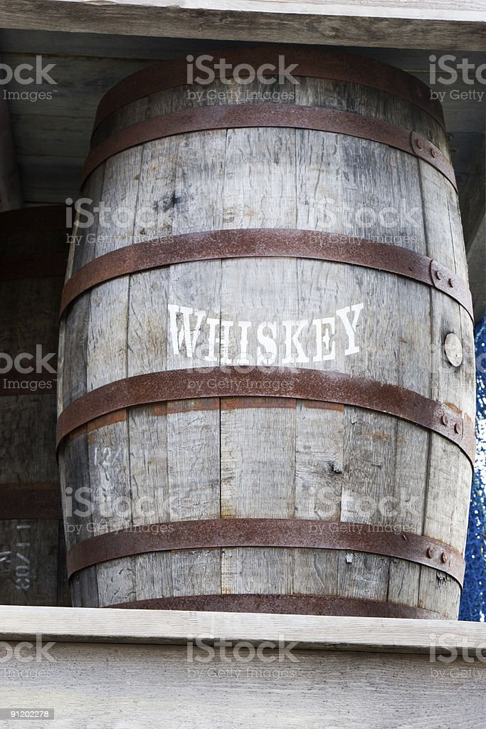 Whiskey Barrel royalty-free stock photo