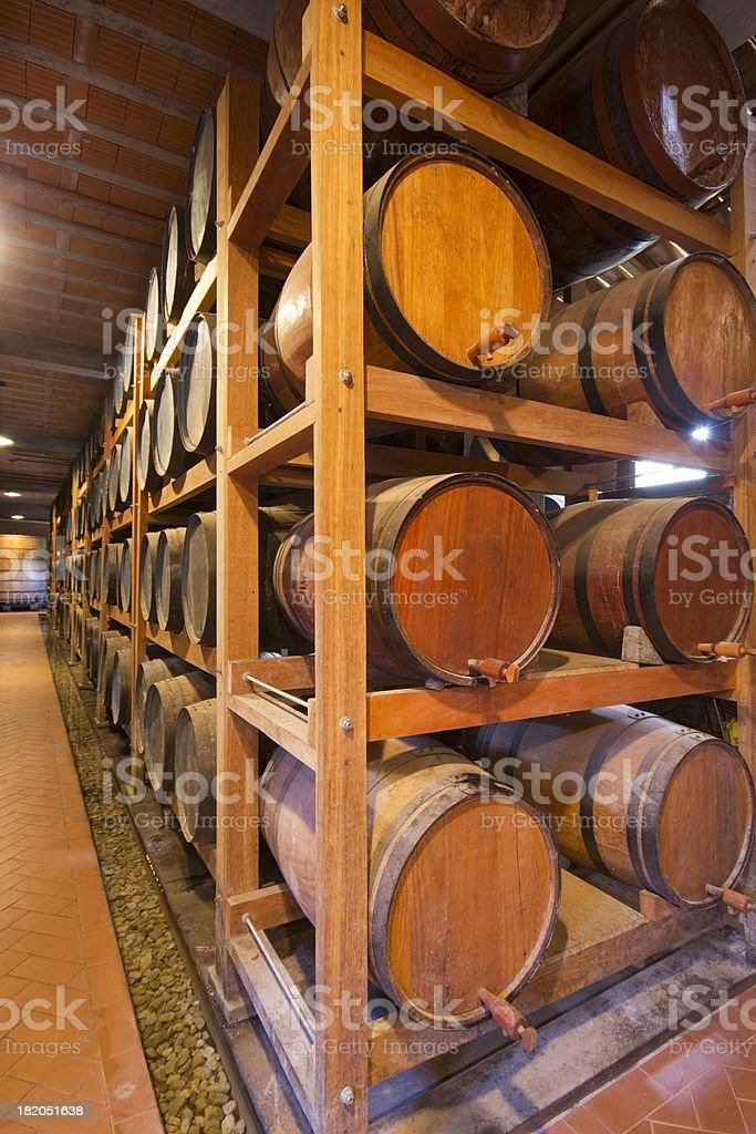 Whiskey Barrels stock photo