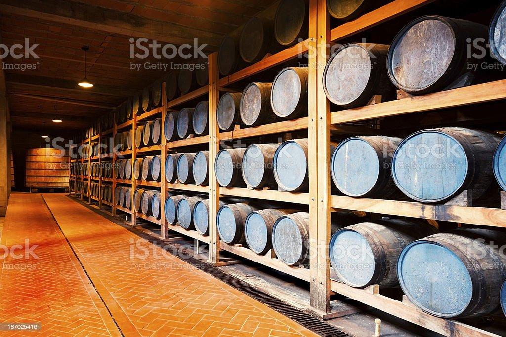 Whiskey Barrels royalty-free stock photo
