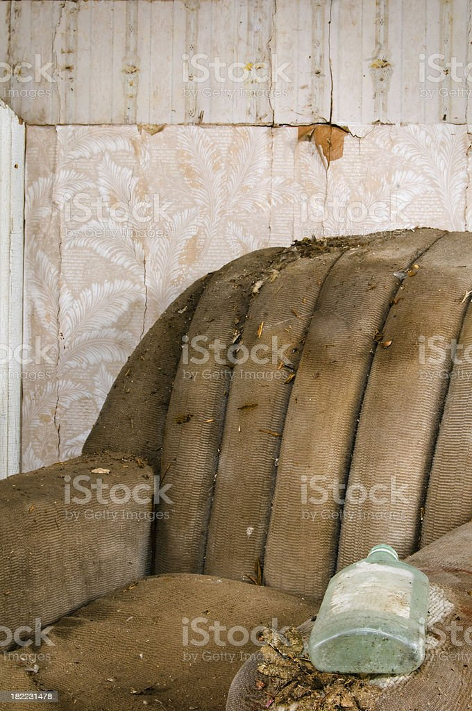 Whiskey bottle chair royalty-free stock photo
