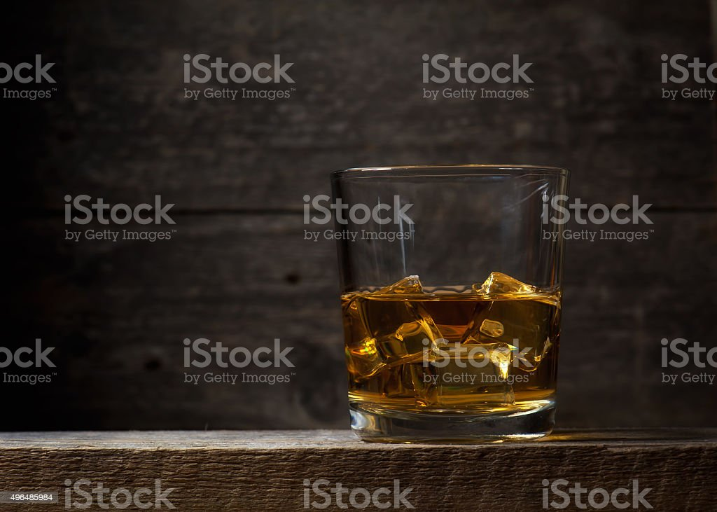 Whiskey Bourbon in a Glass stock photo