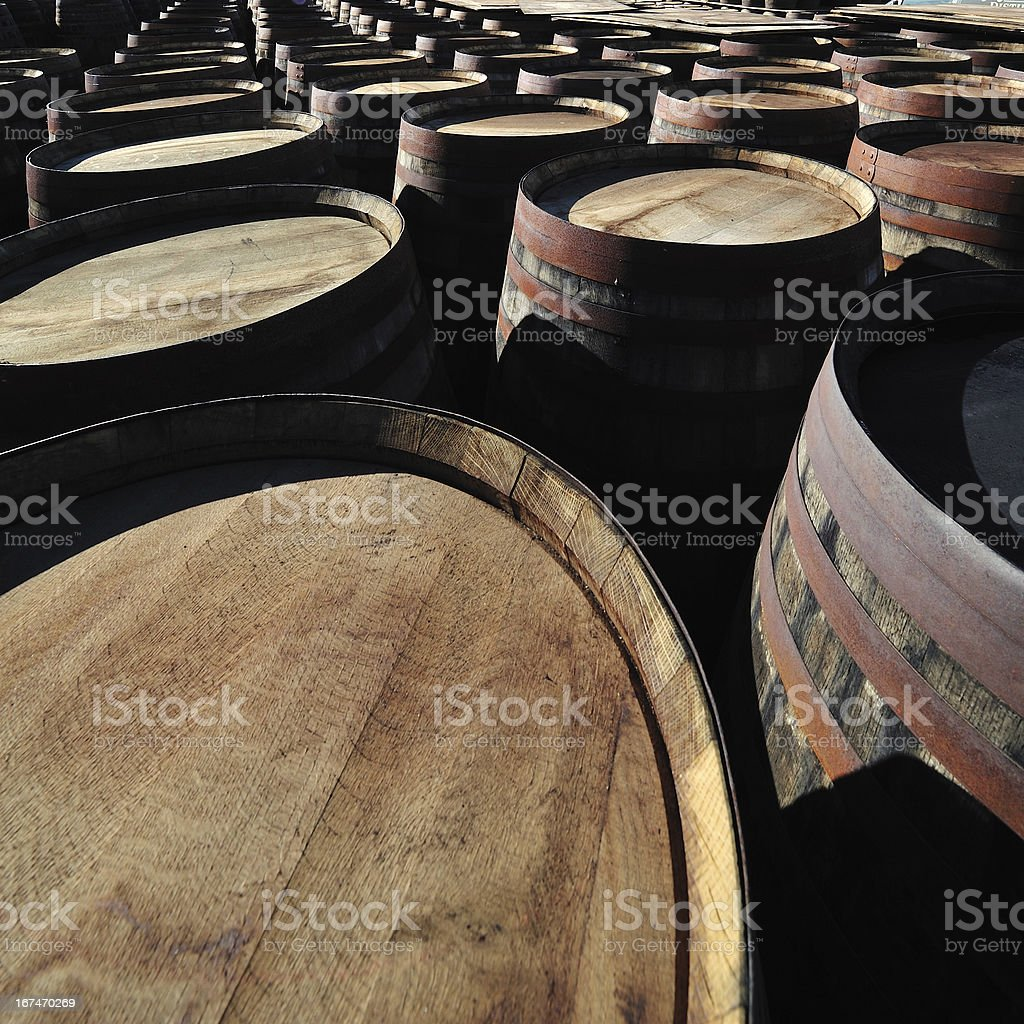 Whiskey Cask (Barrels) royalty-free stock photo