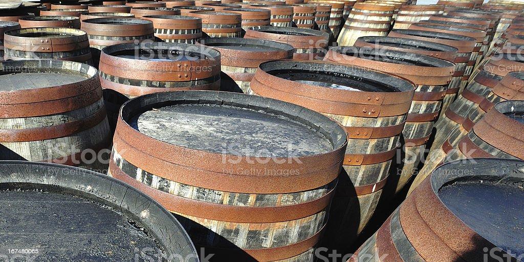 Whiskey Cask (Barrels) royalty-free stock photo